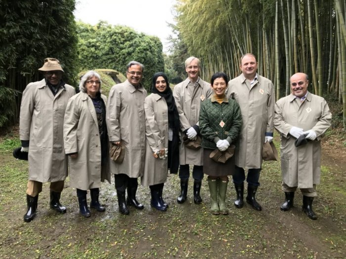 At the Imperial Preserve with Her Imperial Highness Princess Mako and Her Imperial Highness Princess Takamado & members of the Tokyo Diplomatic Corps