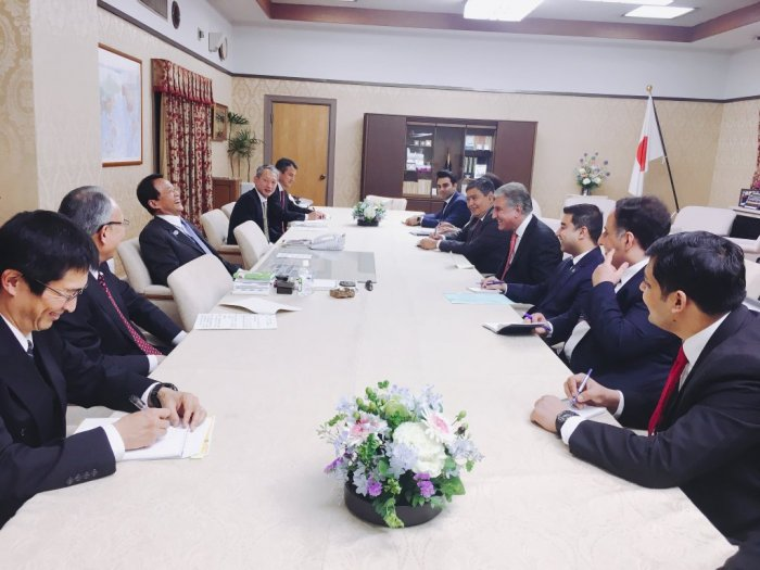 Foreign Minister's Courtesy Call on the Deputy Prime Minister/Finance Minister of Japan H.E. Taro Aso