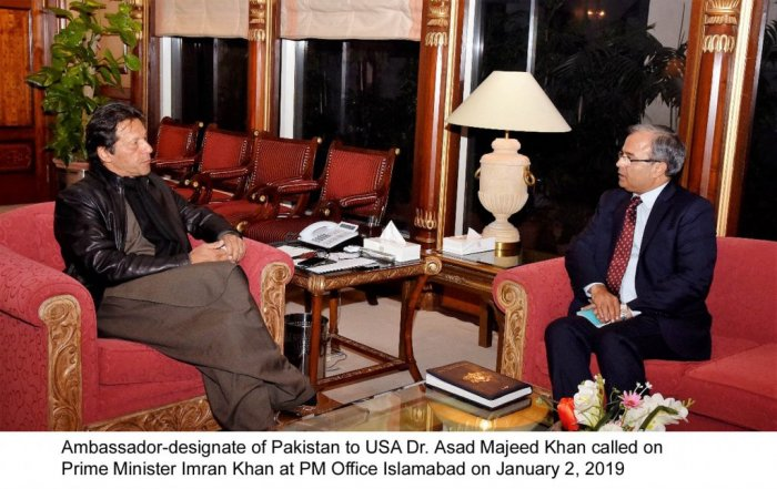 Ambassador Asad Majeed Khan meeting with Prime Minsiter of Pakistan