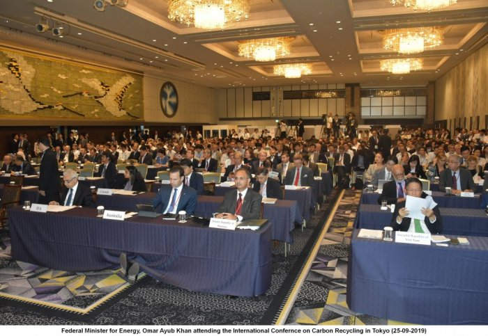 Federal Minister for Energy, Omar Ayub Khan attends 2nd Hydrogen Energy Ministerial Conference and International Conference on Carbon Recycling in Tokyo